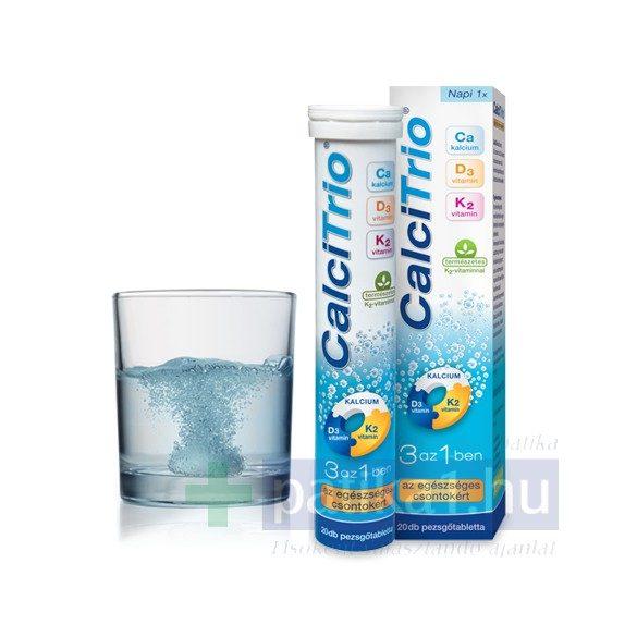 CalciTrio pezsgőtabletta narancs íz 20 db