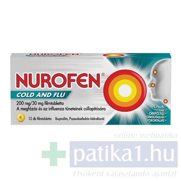 Nurofen Cold and Flu 200 mg/30 mg filmtabletta 24 db