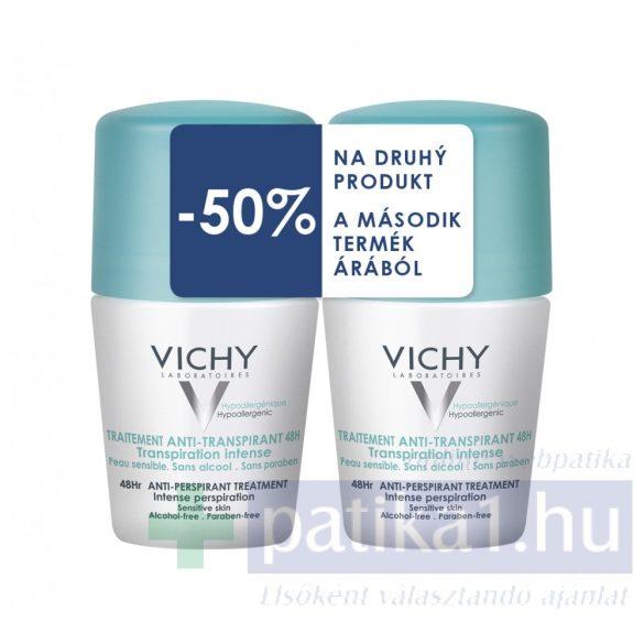 Vichy Intenzív izzadságszabályozó dezodor golyós DUOPACK 2x50 ml 48 órás zöld kupakos