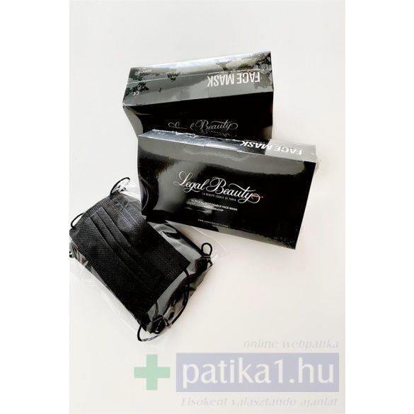 Fekete szájmaszk LB 4 rétegű gumis 1 db