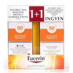 Eucerin Sun Sensitive Protect Gyermek csomag  FF50+ (150+150ml)