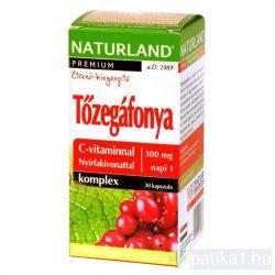 Naturland Tőzegáfonya komplex kapszula + C-vitamin 30 db