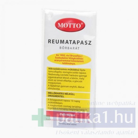 Motto rheumatapasz bőrbarát sárga