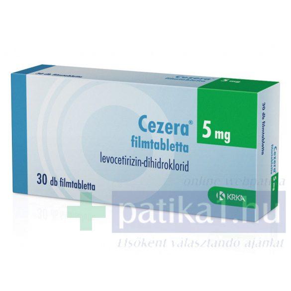 Cezera 5 mg filmtabletta 30 db