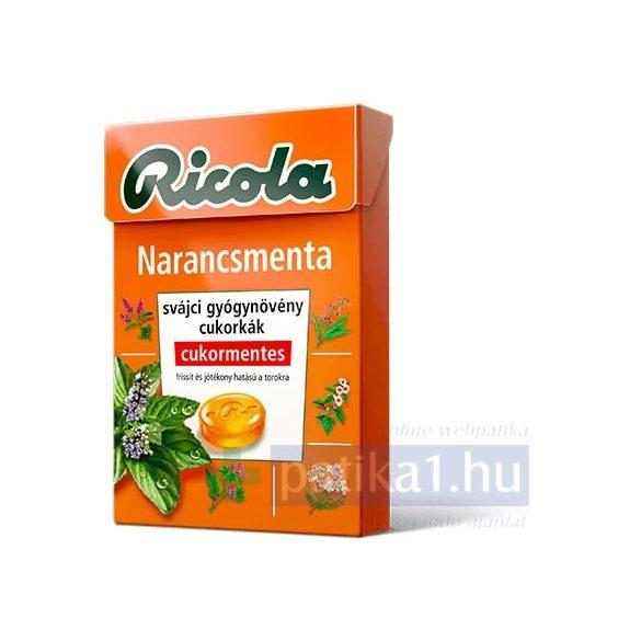 Ricola Orange Mint cukormentes cukorka 40 g