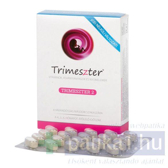 Trimeszter 2 vitamin tabletta várandósoknak jódmentes 60 db