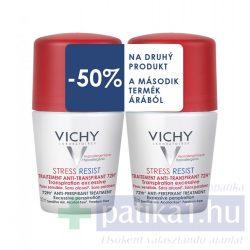 Vichy Stress Resist DUOPACK izzadságszabályozó dezodor - intenzív hatás - golyós piros kupakos 72 órás 2x50 ml