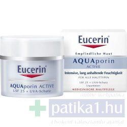Eucerin AQUAporin ACTIVE Hidratáló arckrém normál bőrre UV-szűrővel 50 ml