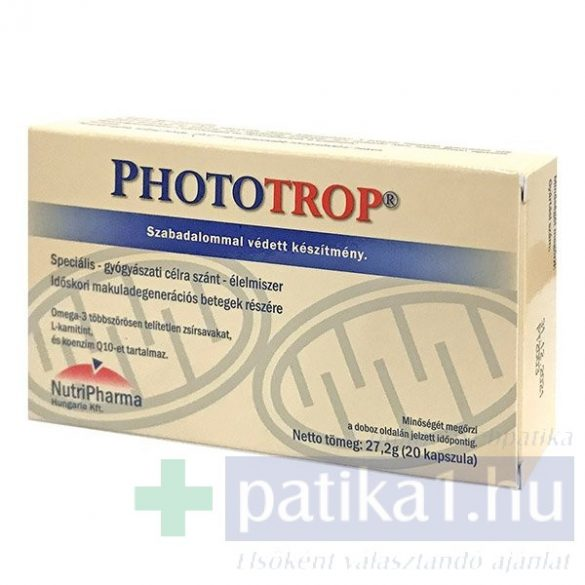 Phototrop speciális tápszer kapszula 20 db