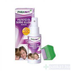 Paranit tetűírtó hajspray + fésű 100 ml