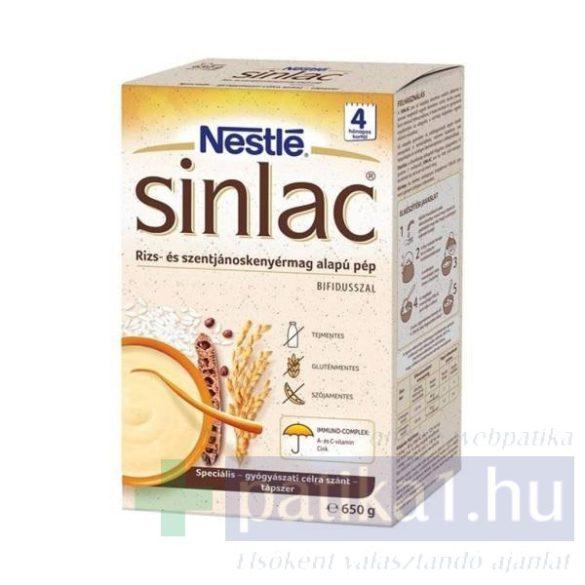 Sinlac rizs és szentjánoskenyérmag alapú pép 650 g