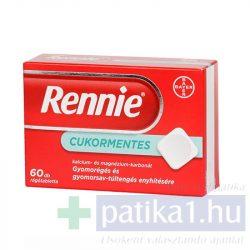 Rennie cukormentes rágótabletta 60 db