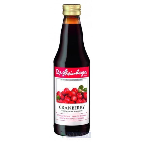 Dr. Steinberger Tőzegáfonya 100% (Cranberry) ivólé 330 ml