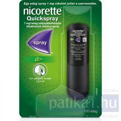 Nicorette Quickspray 1 mg/adag szájnyálkahártyán alk. spray 1x