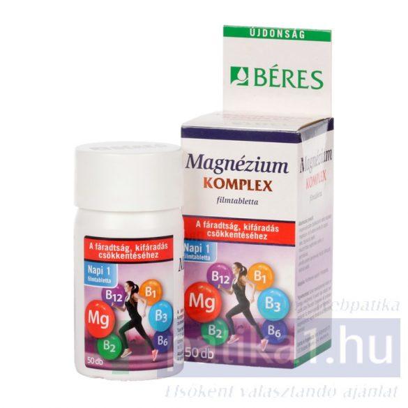 Béres Magnézium Komplex filmtabletta B-vitaminokkal 50 db