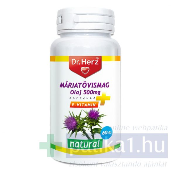 Dr. Herz Máriatövismag olaj 500 mg kapszula 60 db
