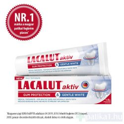 Lacalut fogkrém Aktív White gum protection gentle white 75 ml