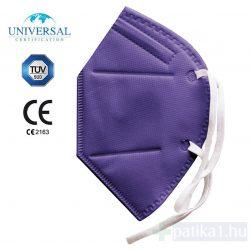FFP2 LILA szájmaszk 1 db CE 2163 egyenként csomagolt Yunyifu