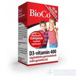 BioCo D3-vitamin 400 IU rágótabletta gyermekeknek 60x
