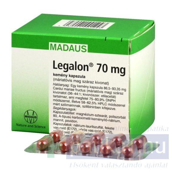 Legalon 70 mg kemény kapszula 100 db