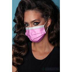 4 rétegű rózsaszín egészségügyi maszk PINK 1x