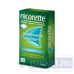Nicorette Icy White gum 2 mg 30 db nikotinos rágó