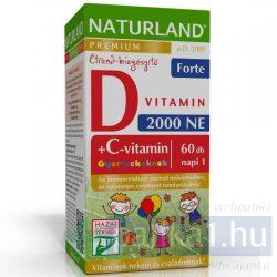 Naturland D3 Forte + C-vitamin gyermekeknek rágótabletta 60 db