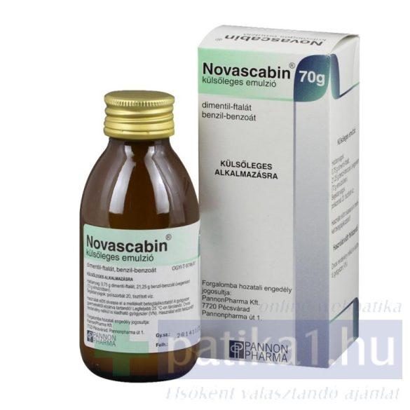 Novascabin külsőleges emulzió 70 g