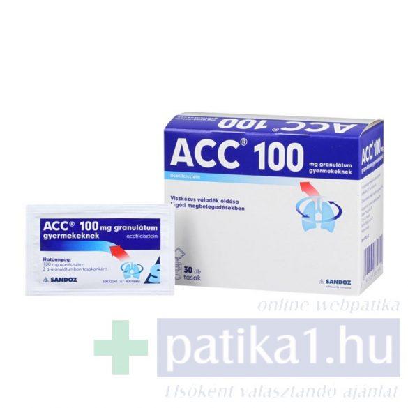 ACC 100 mg granulátum gyerekeknek 30x 3g
