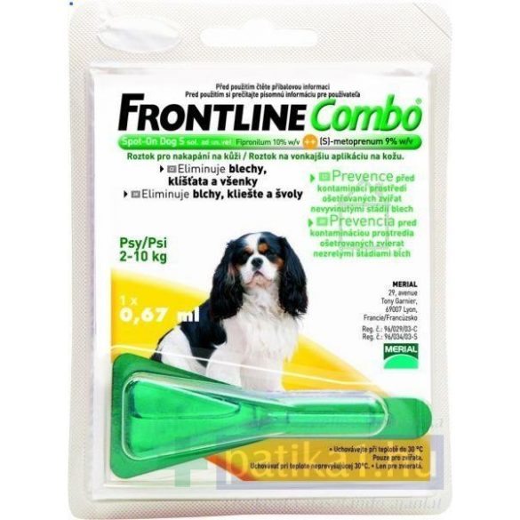 Frontline Combo kutya Spot on S 2-10 kg 1x