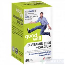 Goodwill D-vitamin 2000 NE + kalcium 250 mg tabletta 60 db