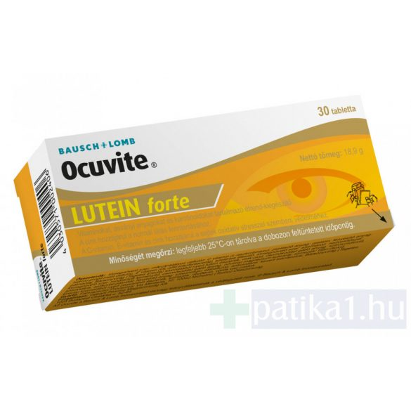 Ocuvite lutein forte tabletta 30 db