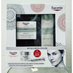 Eucerin Hyaluron-Filler csomag száraz bőrre 50 ml + 15 ml  (Nappali krém 50 ml+ Szemránckrém 15ml)