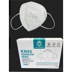 FFP2 KN95 szájmaszk Fehér CE 2163 egyenként csomagolt
