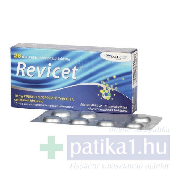 Revicet 10 mg préselt szopogató tabletta 28 db