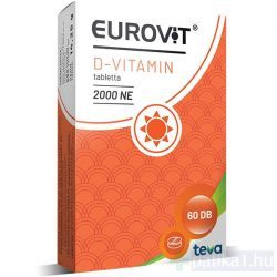 Eurovit D 2000 NE  étrendkieg tabletta 60x