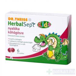 Dr. Theiss Herbalsept Kids nyalóka köhögésre 6 db