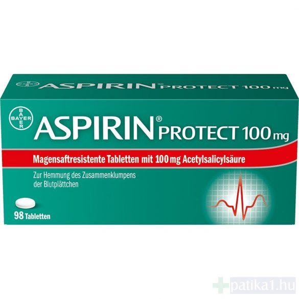 Aspirin Protect 100 mg gyomornedv-ellená. bev. tab. tabl. 98 db