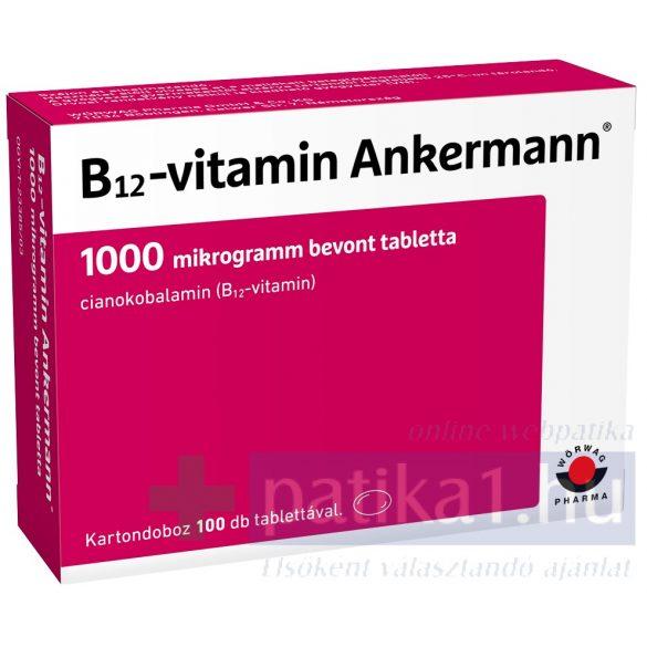 Vitamin B12 Ankermann 1000 mcg bevont tabletta 100 db