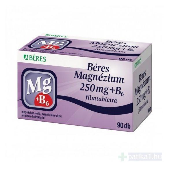 Béres Magnézium 250 mg + B6 filmtabletta 90 db