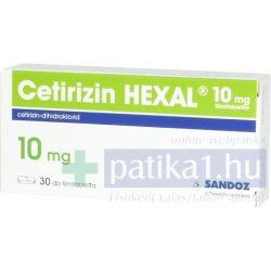 Cetirizin Hexal 10 mg 30x