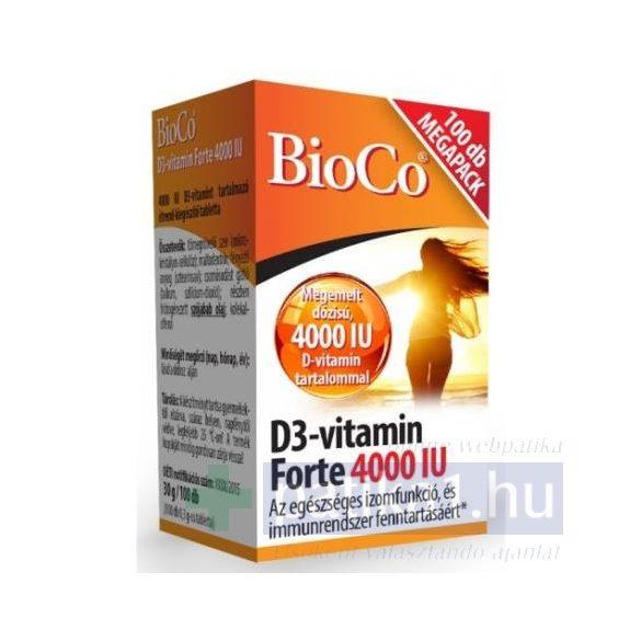 BioCo D3-vitamin Forte 4000 IU Megapack 100 db tabletta