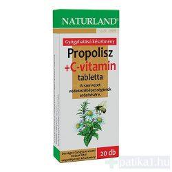 Naturland Propolisz C-vitamin tabletta 20 db