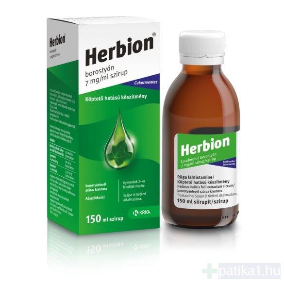 Herbion borostyán 7 mg/ ml szirup 150 ml