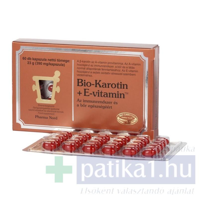 vitaminok béta karotin a látáshoz)