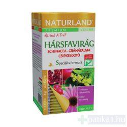 Naturland Prémium Hársfa Echinacea Gránátalma csipkebogyó filteres teakeverék 20x2g