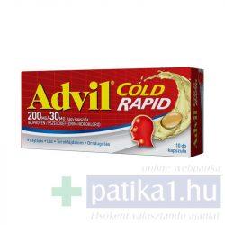 Advil Cold Rapid 200 mg/ 30 mg lágy kapszula 10 db