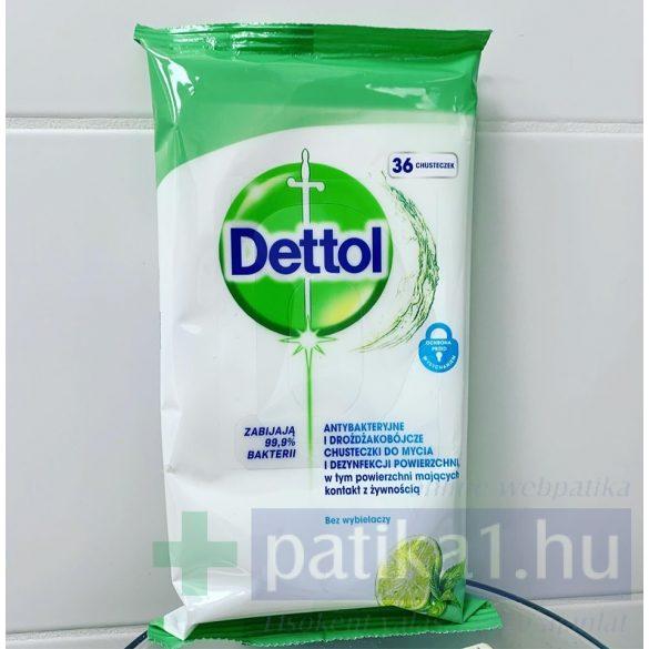 Dettol antibakteriális felülettisztító kendő Lime Menta 36 db