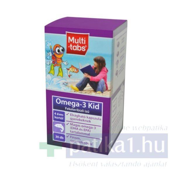 Multi-Tabs Kid Omega-3 rágókapszula feketeribizli új összetétel 30 db elrágható kapszula