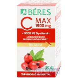 Béres C Max 1500 mg csipke D3 3000 NE retard filmtabletta 90 db
